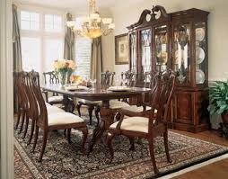 American Drew Dining Room Furniture Cherry Grove Rectangular Pedestal Dining Table By American