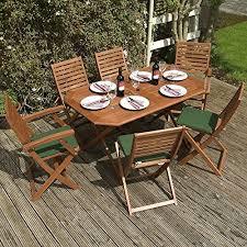 Wooden Outdoor Sofa Sets Wooden Garden Furniture Sets Amazon Co Uk