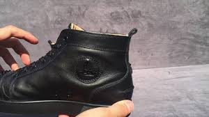 christian louboutin lou spikes flat calf black black youtube