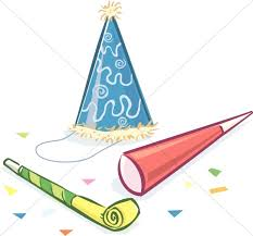 new year noisemakers birthday hat and noise makers church clipart gclipart