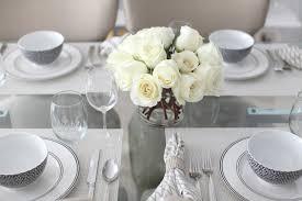 White Centerpieces Host An Elegant Black U0026 White Dinner Party Fashionable Hostess