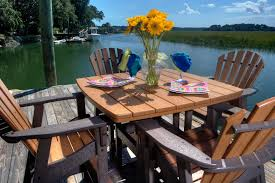 Tall Deck Chairs And Table by Wicker Cast Aluminium Fabrics U0026 Pvc Pipe Furniture Charleston