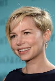 hairstyles michelle williams short pixie sty e and shaved side