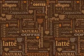 wallpaper coffee design coffee beans and text graphic coffee wallpaper walls and murals
