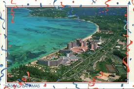 Nassau Bahamas Map Aerial View Of Cable Beach Nassau The Bahamas Riviera Hotels