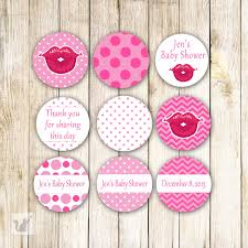 pink lips baby shower small candy labels lipstick