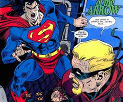 remember superman tore green arrow u0027s arm moviepilot