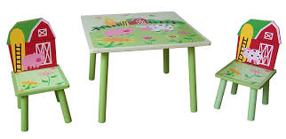 Folding Table And Chair Set For Toddlers Farm Kids Multi Table And 2 Chairs Brand New Amazon Co Uk