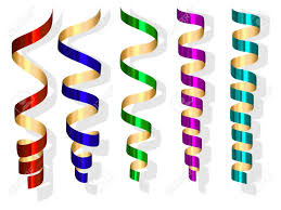 party streamers vector party streamers royalty free cliparts vectors and stock
