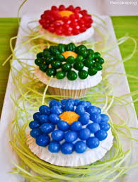 Easter Decorated Cupcakes by Jelly Bean Flower Cupcakes Easter Ideas The Tomkat Studio Blog