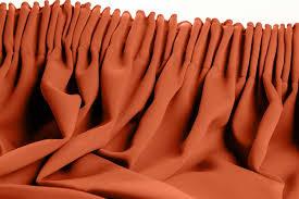 Solid Color Curtains Orange Blackout Curtain Solid Color Rust Mc374 Moondream Curtains