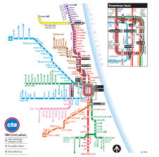 Chicago Attraction Map by Cta Map U2013 Chicago Transit Guide