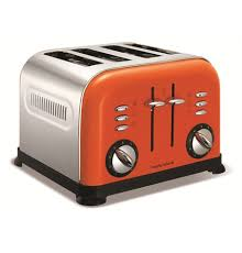 4slice Toasters Accents Orange 4 Slice Toaster Toasters U0026 Sandwich Toasters