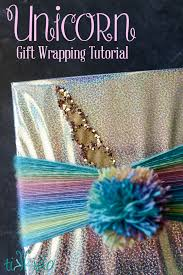 iridescent wrapping paper unicorn gift wrapping tutorial tikkido