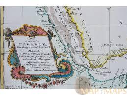 Arabian Peninsula Map Carte De La Coste D U0027arabie Arabian Peninsula Bellin 1740