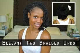 sisterlocks hairstyles for wedding mane sisterlocks elegant two braided updo tutorial fro wedding