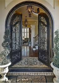 French Country Exterior Doors - great arched double front doors and arched double front doors and