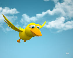 bird 3d cartoon flying wallpaper desktop mobil 3125 wallpaper