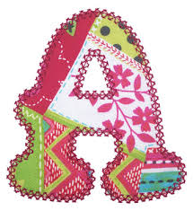 alphabets vintage applique alphabet