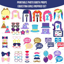 printable girly photo booth props 54 best my little pony mlp party images on pinterest printable