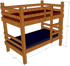 Rustic Bunk Bed Rustic Bunk Bed Plans