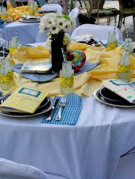 photo baby shower table settings image