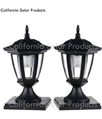 4x4 post cap lights 2 pack black solar hexagon post cap lights with white leds for 6x6
