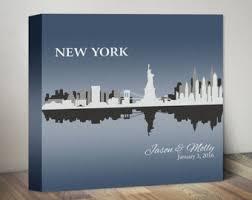 wedding gift nyc new york skyline wedding gift personalized new york city