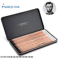aliexpress com buy marco 12pcs iron box charcoal drawing pencil