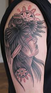tattoo girl owl indian girl and owl tattoo tattoomagz