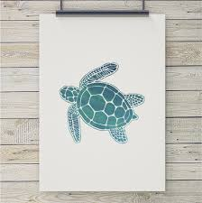 sea turtle art print coastal art u0026 home decor from 7th u0026 palm