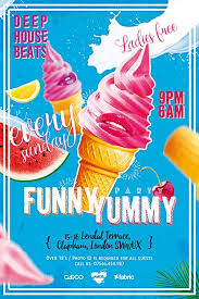 funny yummy party free flyer template download for photoshop