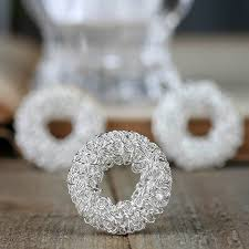 miniature silver wreaths ornaments and