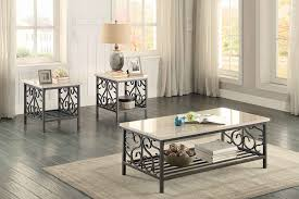 amazon com homelegance fairhope 3 piece occasional table set with