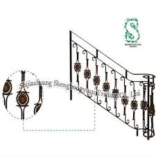 Iron Grill Design For Stairs Decoration Wrought Iron Metal Safety Railing Stair Grill Buy