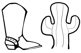 download cowboy boots coloring pages ziho coloring