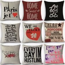 Wholesale Decorative Pillows Discount Word Throw Pillows 2017 Word Throw Pillows On Sale At