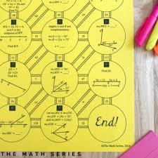 Angle Addition Postulate Worksheet Answers Segment And Angle Addition Postulates Maze By The Math Series