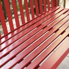 porch swing wood outdoor bench patio deck yard hanging glider