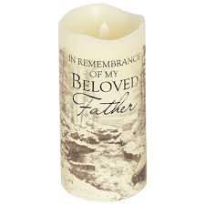 Bereavement Gifts Father Flameless Memorial Candle