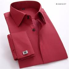 french cuff dress shirt men white long sleeve camisa masculina