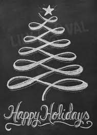 holiday chalkboard card christmas tree card modern christmas