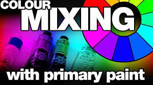 colour mixing with primary paint youtube
