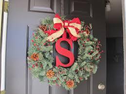winning wreath easy diy monogram holiday wreath loving here