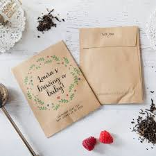 10 u0027brewing a baby u0027 baby shower tea packet favours by wedding in a
