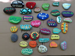 Rock For Garden by The Gray Area Diy Painted Rock Garden Markers