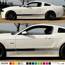 mustang decals amazon com universal side stripes stickers decals graphic