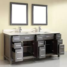 double sink bathroom vanity kalize 75 french gray finish hand