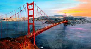 golden gate bridge 1 fine art painting sacramento ca j u0026m art