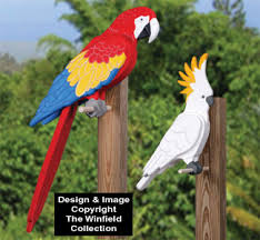 3d bird woodcraft patterns 3d tropical birds pattern set